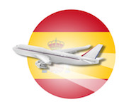 fly og hotell opphold i Spania